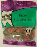 Fizzy Strawberries 180g